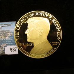 """Large 70 mm Medal, which maybe Gold, but is more likely to be Cu with 24K gold plating """"The Legacy o"""
