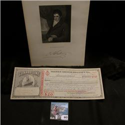 "7"" x 10.5"" Steel Engraving of Robert Fulton, (November 14, 1765 – February 24, 1815) famous for the"