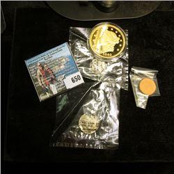 1944 Mercury Dime, Fine in a Littleton Coin holder; Lincoln Head Cent Plt Znc Blank Planchet in a Li