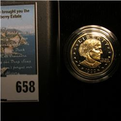 1999 P U.S. Susan B. Anthony Proof Dollar Coin, encapsulated, and in original case.