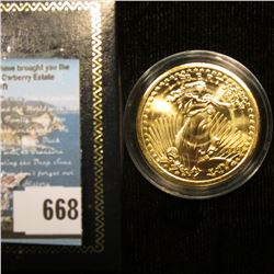 Copy of 1933 Gold Double Eagle Proof Coin with a certificate of authenticity, encapsulated.