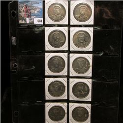 Ten-piece Set of Copies of the Chinese Generals Dollar Coins.