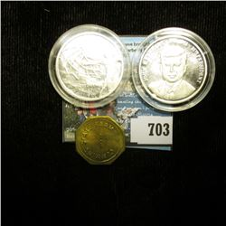 John F. Kennedy 1861-1963 35th President .999 Fine Silver Medal, encapsulated; .999 Fine Silver Proo