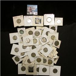 (50) Silver World War II Jefferson Nickels including a BU 1943 D. All in holders and priced way to c