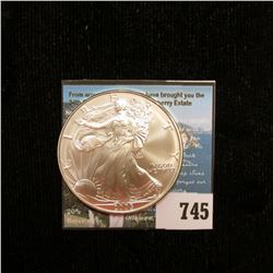2005 U.S. American Silver Dollar One Ounce .999 Fine Silver. Brilliant Uncirculated. With C.O.A. fro