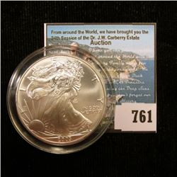 2003 U.S. American Silver Dollar One Ounce .999 Fine Silver. Brilliant Uncirculated. With C.O.A. fro