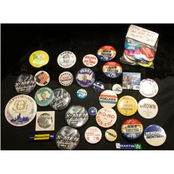 Large group of Old Political Pin-backs.
