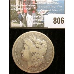 1879 P Morgan Silver Dollar, Fine.