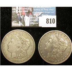 1888 O & 1921 D U.S. Silver Dollars, Fine to VF.