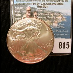 2006 U.S. American Silver Dollar One Ounce .999 Fine Silver. Brilliant Uncirculated.
