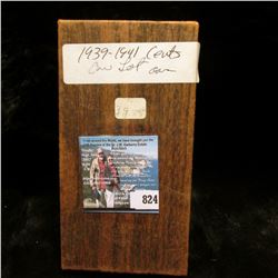 "1 1/2"" x 1 1/2"" Double Row Coin Stock box full of carded Lincoln Cents dating 1939-41. Some high gra"