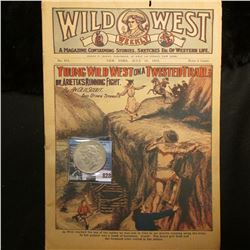July 18, 1919  Wild West Weekly  Magazine and a 1923 P U.S. Peace Silver Dollar, VF.