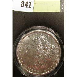1882 P Morgan Silver Dollar, AU, in a special holder.