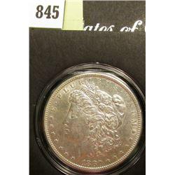 1880 P Morgan Silver Dollar, EF, in a special holder.
