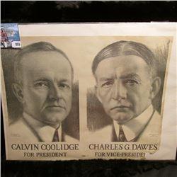 "Poster ""Calvin Coolidge for President Charles G. Dawes For Vice-President""."