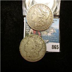 1888 O Fine & 21 P Fine U.S. Morgan Silver Dollars.