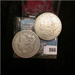 1888 O Fine & 21 S Fine U.S. Morgan Silver Dollars.