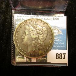 1879 S U.S. Morgan Silver Dollar, Fine.