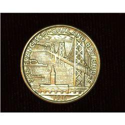 1936 S San Francisco Oakland Bay Bridge U.S. Commemorative Half Dollar, MS 63. Mintage 71,424 pieces