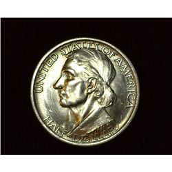 1936 P Daniel Boone Bicentennial U.S. Commemorative Half Dollar, MS 65. Mintage 12,012 pieces.