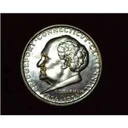 1936 P Bridgeport, Connecticut Centennial U.S. Commemorative Half Dollar, MS 63. Mintage 25,015 piec