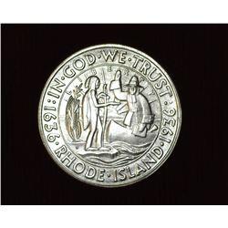 1936 D Providence, Rhode Island Tercentenary U.S. Commemorative Half Dollar, MS 61. Mintage 15,010 p
