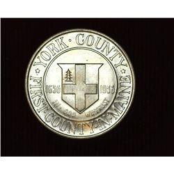 1936 P York County, Maine Tercentenary U.S. Commemorative Half Dollar, MS 66. Mintage 25,015 pieces.