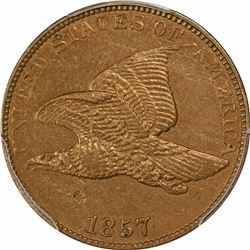 1857 1C. Flying Eagle. PCGS Genuine.