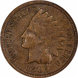 1909-S 1C. Indian Head. NGC XF45 BN.