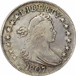1807 50C. Draped Bust. PCGS Genuine.