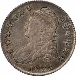 1822 50C. Capped Bust Half Dollar. PCGS AU50.