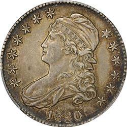 1830 50C. Capped Bust Half Dollar. PCGS AU55.