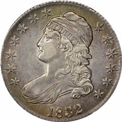 1832 50C. Capped Bust Half Dollar. PCGS XF45.