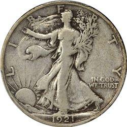 1921-S 50C. Standing Liberty Half Dollar. PCGS VF25.