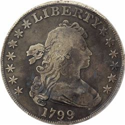 1799 $1. Flowing Hair Dollar. PCGS VG Details.