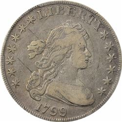 1800 $1. Flowing Hair Dollar. PCGS F Details.