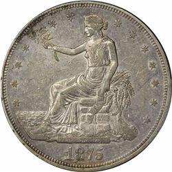1875-CC T$1. Trade Dollar. PCGS AU Details.