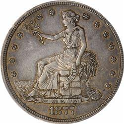 1877-S T$1. Trade Dollar. PCGS AU50.