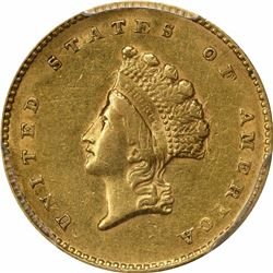 1855 G$1. Indian Princess Gold Dollar. PCGS XF45.