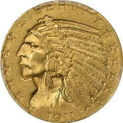 1911 $5. Indian Half Eagle. PCGS MS61.
