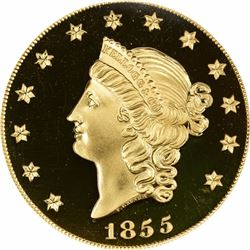 1855/2001 $50 Kellogg & Company gold PCGS GEM PROOF.