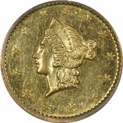 1852 Liberty Head Round $1/2 BG-401. Rarity 3. PCGS MS-62.
