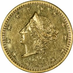 1853 Liberty Head Round $1/2 BG-414. Low Rarity 5. PCGS AU-55 OGH.