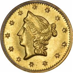 1853 Liberty Head Round $1/2 BG-428. Rarity 3. PCGS MS-62 OGH.