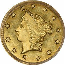 1853 Liberty Head Round $1/2 BG-430. Rarity 3. PCGS MS-63.