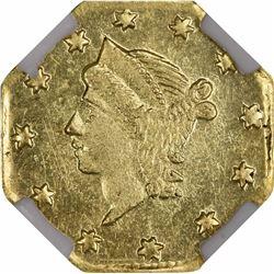 1856 Liberty Head Octagonal $1/4 BG-111. Rarity 3. NGC MS-63.