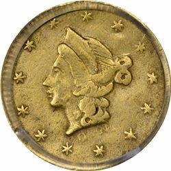 1853 Liberty Head Round $1/2 BG-408. Rarity 6. PCGS Genuine.