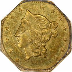 1853 Liberty Head Octagonal $1 BG-530. Rarity 2. PCGS MS-61. OGH.
