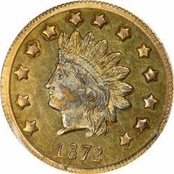 1872 Indian Head Round $1 BG-1208. Low Rarity 6. PCGS MS-63.