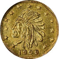 1900 Indian facing left Octagonal ½ DWT. Rarity 5. NGC MS-65.